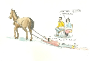horse-dragged-in
